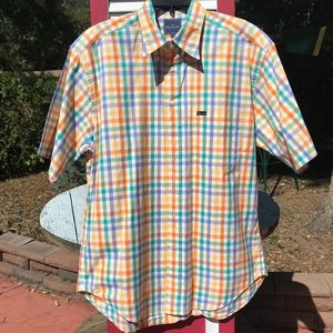 Faconnable Short-Sleeved Cotton Shirt Size Large